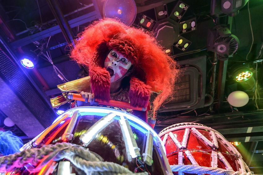 Performance at the Robot Restaurant Arts Culture And Entertainment Colorful Colourful Dance Drum Fun Illuminated Indoors  Indoors  Kabukicho Music Night Performance Performer  Robot Restaurant Shinjuku Stage - Performance Space Stage Light Break The Mold An Eye For Travel