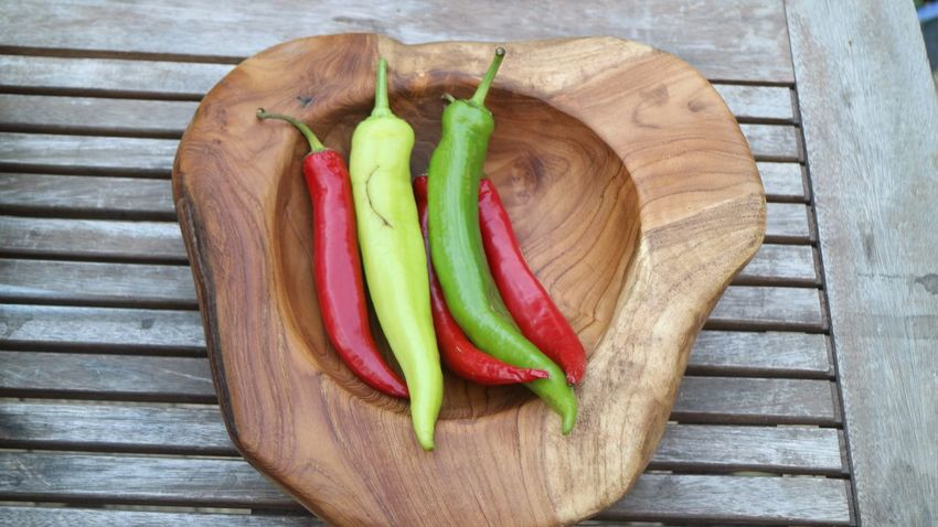EyeEm Selects Wood - Material Freshness High Angle View Food And Drink Healthy Eating Directly Above No People Food Day Close-up Outdoors Peppers Paprika Paprica Paprika, Red, Green, Vegetable, Chilli,