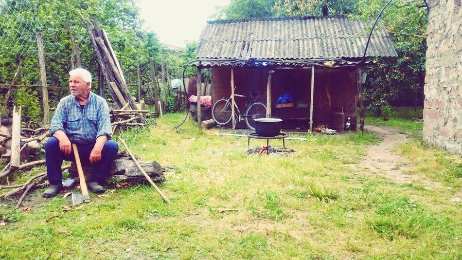 ბაბუა სოფელი შუხუთი Oldman Grandfather Village Village Life Anx Georgia
