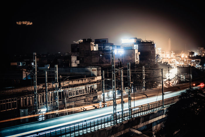 Fusion of Old & Modern era, Jaipur city scape with Nahargarh (The Lion Fort) in the backdrop as metro passes.Adapted To The City Cityscape Night Outdoors City Jaipur,India Jaipur Rajasthan Jaipur Metro Jaipur Rajasthan Indian Check This Out Travel Nahargarh Nahargarh Fort Nahargargh