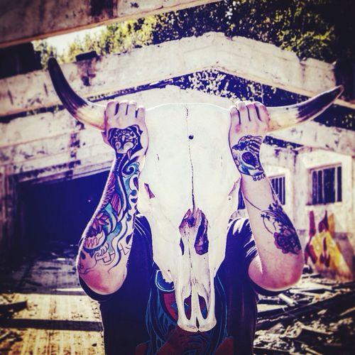 Bullskull Tattoo Tattooed Art Nice Picoftheday First Eyeem Photo