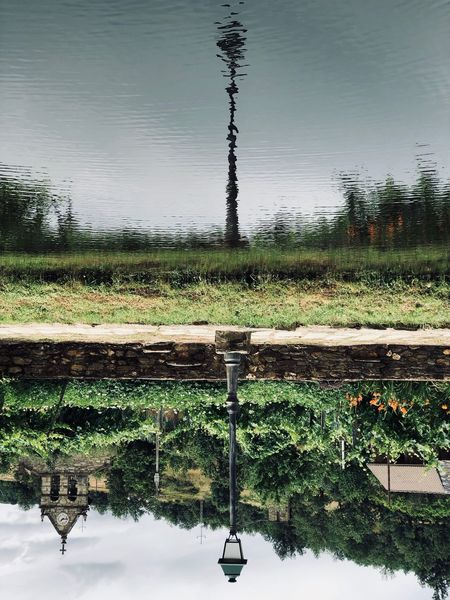 Upside Down Portugal Lamp Post Water River Water Nature Lake Plant No People Wet Sky Reflection Day Outdoors Beauty In Nature Scenics - Nature The Great Outdoors - 2018 EyeEm Awards