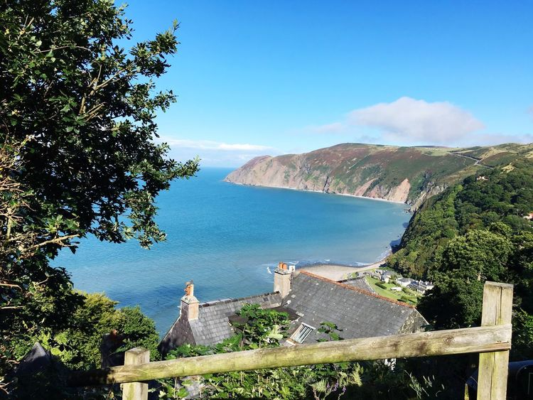 Lynmouth Devon High Angle View Beauty In Nature
