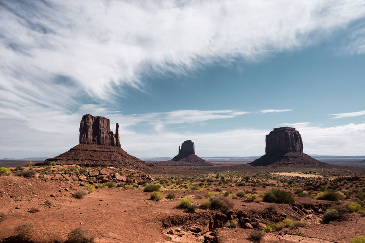 Classic shot. Adventure Arid Climate Arizona Beauty In Nature Blue Sky Clouds Day Desert Fujifilm Geology Landscape Monument Valley Nature No People Outdoors Roadtrip Scenics Sky Travel Travel Photography Traveling USA Xt10