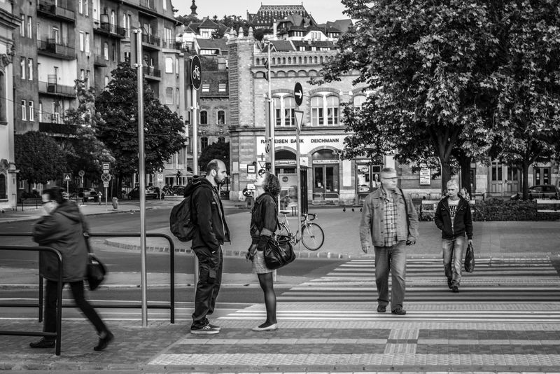 A monochrome of lovers Black And White Budapest Europe Europe Trip Hunfot Hungary Lovers Street Adapted To The City The Street Photographer - 2017 EyeEm Awards