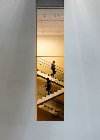 Architecture Museum Of Modern Art NYC New York People On Stairs Modern Architecture Modern Art Stairway To Heaven Stairways Staircase MoMA New York Moma Nycphotography NYC NYC Photography The Graphic City