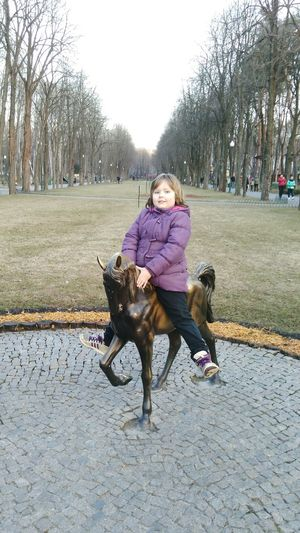 Daugther Girl Square Park One Animal Pets Tree Full Length Working Animal One Person Outdoors Men Day People Nature