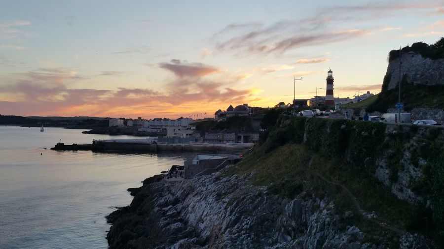 Plymouth Hoe at Dusk Sunset Sky First Eyeem Photo