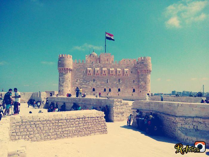 Qaitbay castle - alexandria - egypt Flag Travel Destinations Architecture Sky People Castle Castles Qaitbay Castle Qaitbay Citadel Qaitbey Citadel Qaitbey Alexandria Egypt Egypt Egyptian Museum