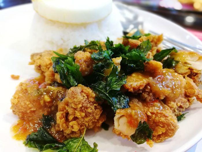 Fried chicken Ka-Praw Kaprawkai Foods Fried McDonalds :)