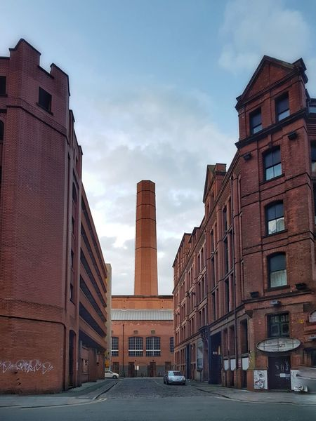 Architecture Chimney Stack Brick Factory Building Brick Building Manchester