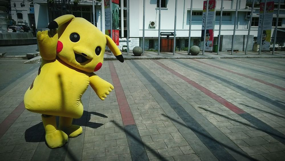 lost pikachu Cartoon Anime Japan Style 90's Kid Clown Yellow EyeEmNewHere