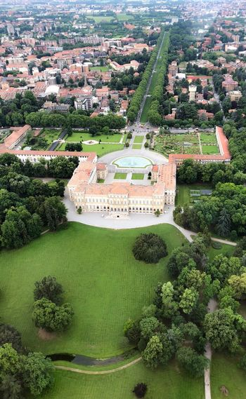 La Reggia Monza Villa Reale Monza Travelling Lombardia Plant Building Exterior Architecture Built Structure High Angle View Day Nature Green Color No People Formal Garden Garden Building Park Aerial View