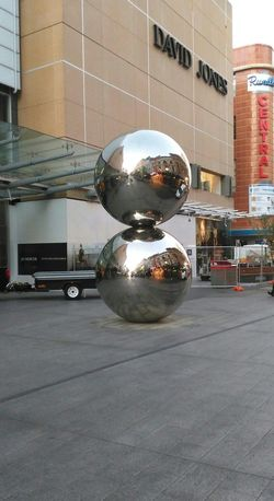 Sculpture Adelaide, South Australia Rundle Mall Adelaide Silver Balls Streetphotography Chrome Shopping Mall Adelaide S.A. Streetphoto_color