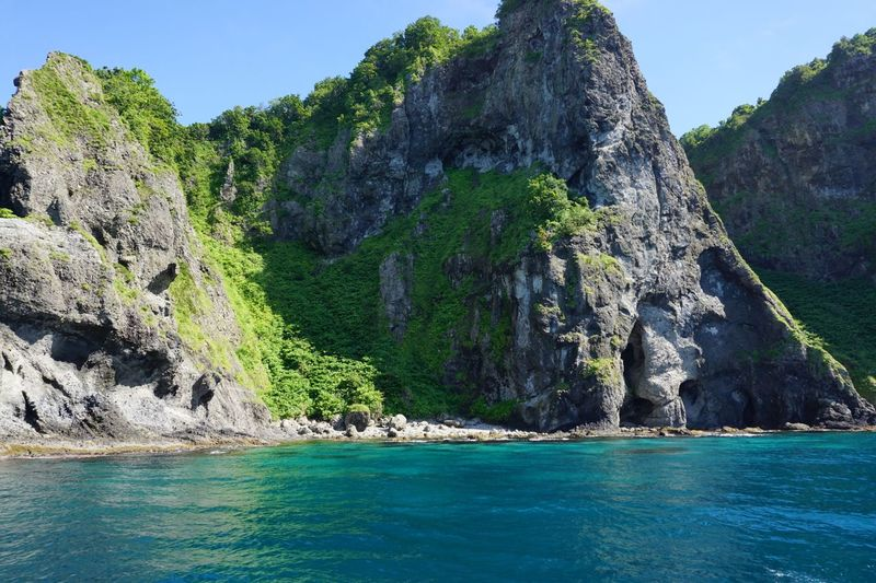 Green Clear Water Cape  Nature Blue Water Sea Scenics - Nature Tree Sky Mountain Rock Rock - Object