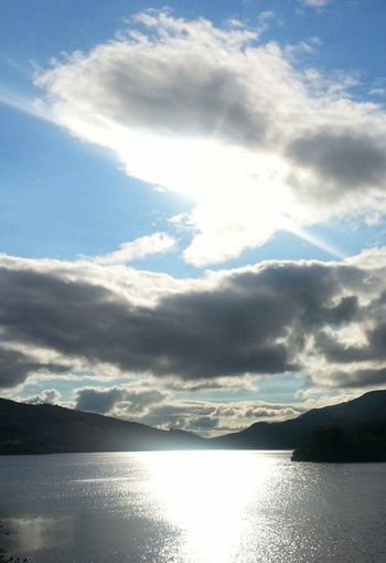 Loch Tay Scottish Highlands Scenics Tranquil Scene Water Mountain Reflection Beauty In Nature Tranquility Calm Nature Sky Cloud Idyllic Cloud - Sky Blue Cloudscape Eye For Photography Sun_collection No People Mobile Photography From My Point Of View Outdoor Photography Majestic