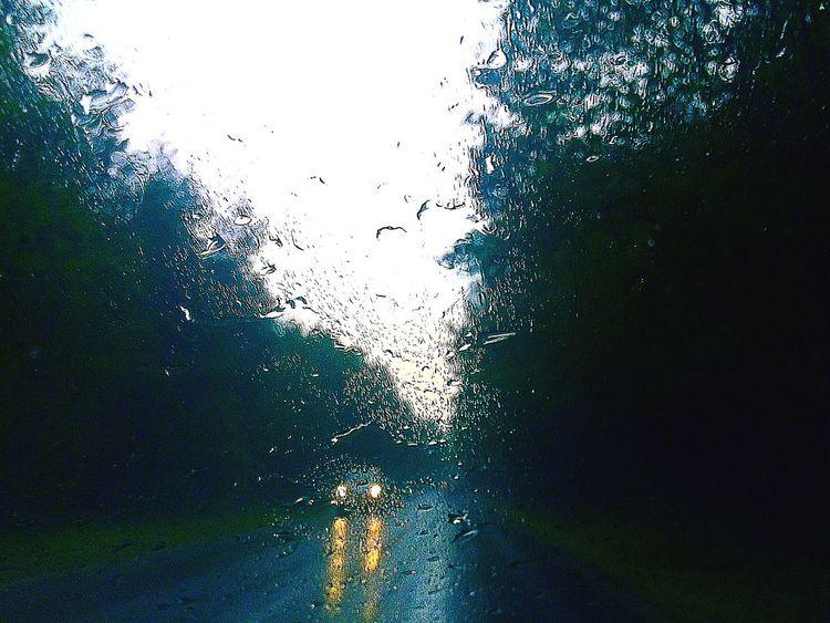 Rain Rainly From My Car Dark Clouds Light Taking Photos Taking Photos