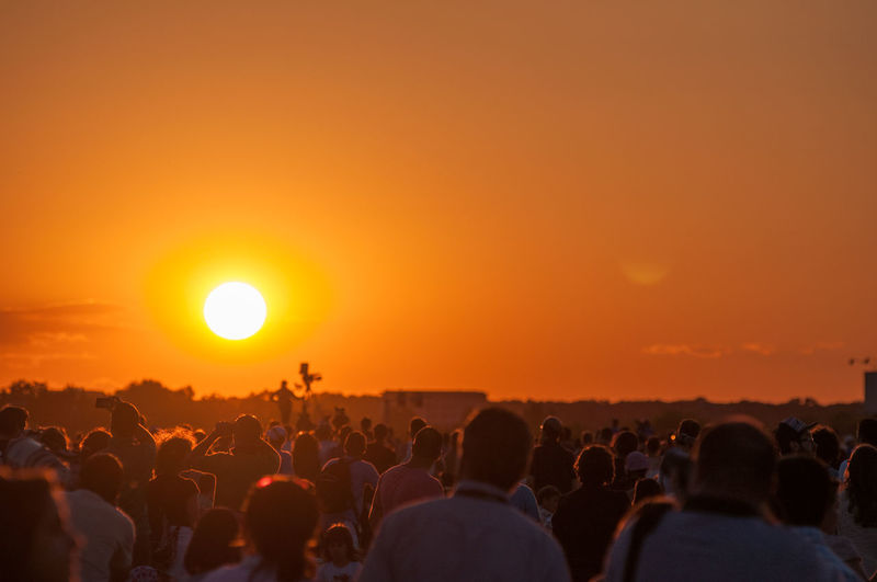 Crowd Group Of People Large Group Of People Outdoors People Sky Summer Sun Sunset