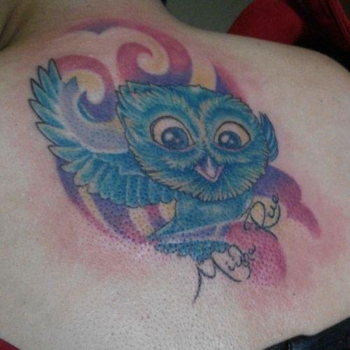 First tattoo, after the pain is a pleasure.. :) Inkcaholictattoostudio Dhudzdelfin Miisharue Thanksdadiiloves