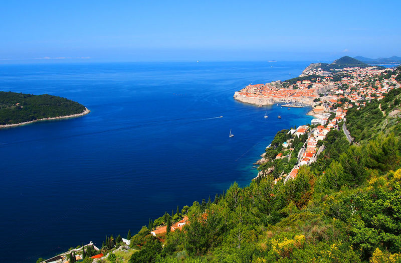 Scenic View Of Cityscape By Adriatic Sea Against Sky