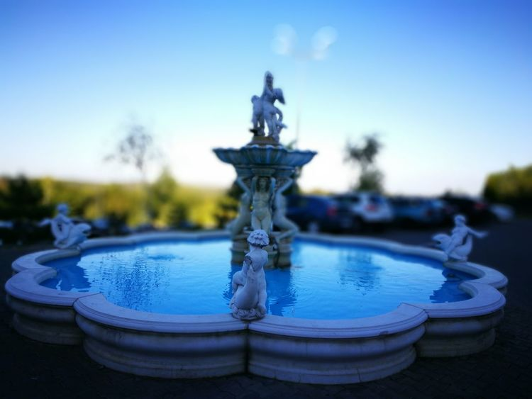 Blue Water Close-up Selective Focus Focus On Foreground Fountain Sky Day Tranquil Scene Tranquility Outdoors No People Standing Water Creativity View Taking Photos Traveling Sunny Day Iasi Hello World Amazing Romania Enjoying The View Romania Castle The Magic Mission