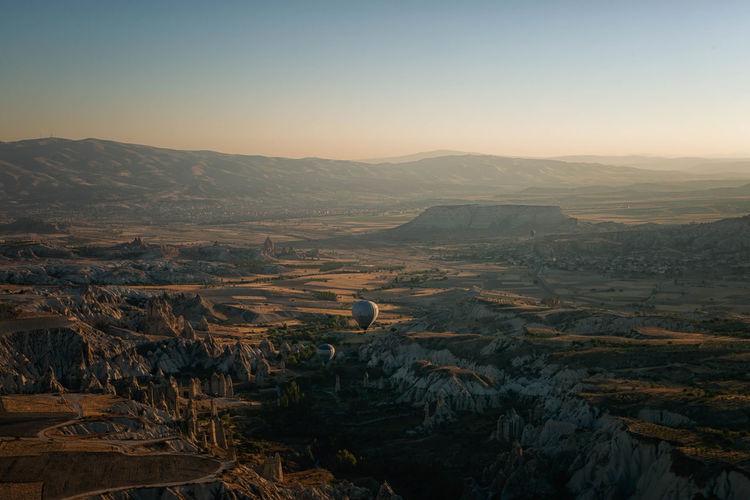 Scenic view of landscape at cappadocia