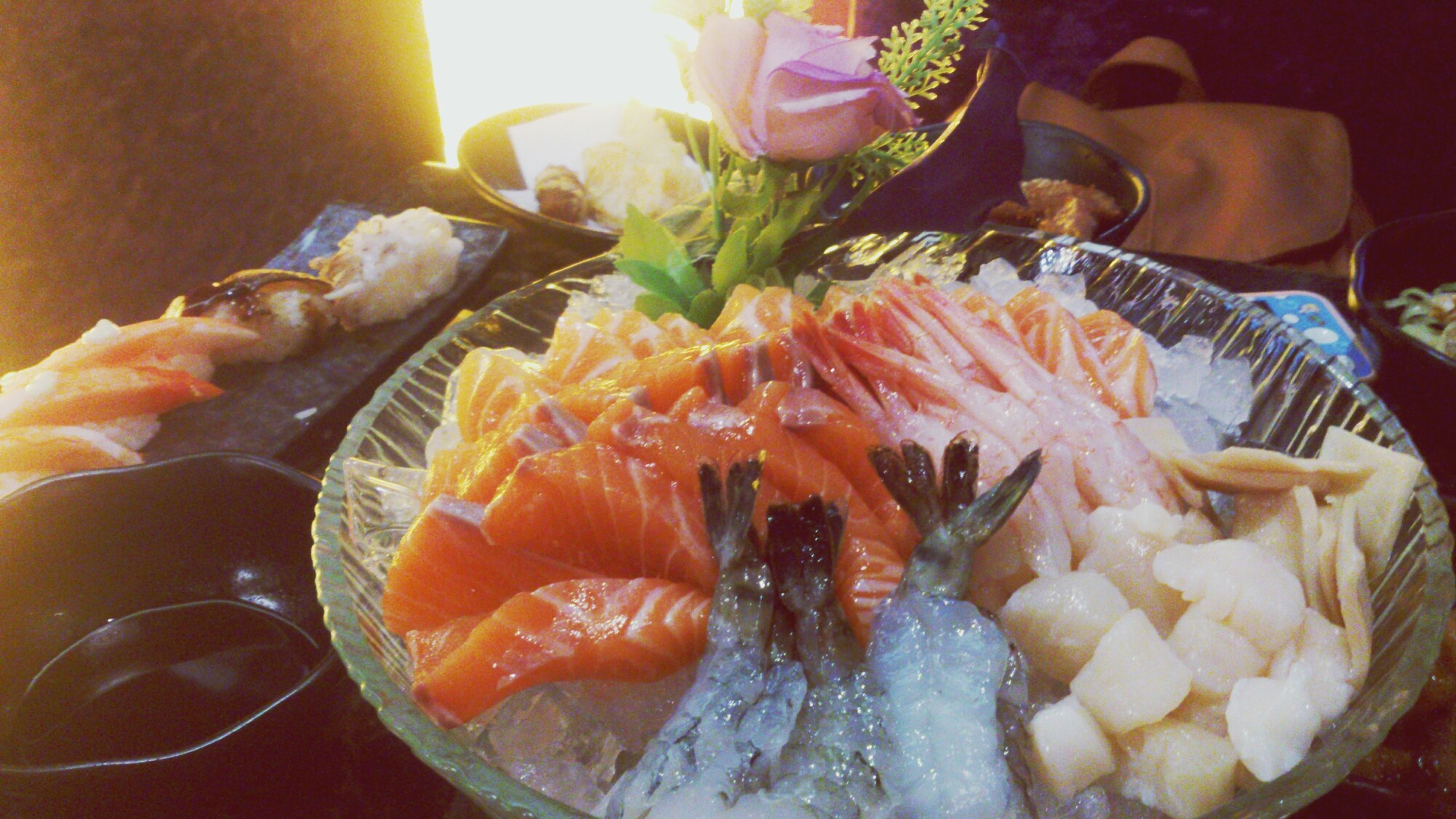 food and drink, food, indoors, freshness, healthy eating, ready-to-eat, plate, still life, seafood, close-up, table, high angle view, serving size, indulgence, meal, fish, meat, vegetable, no people, bowl