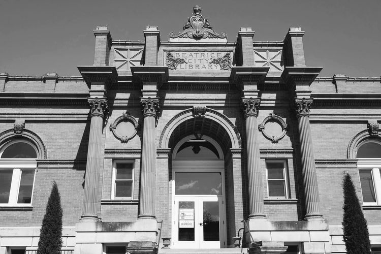 Visual Journal May 2018 Beatrice, Nebraska - Beatrice Carnegie Building Beatrice City Library 1902–1903, George A. Berlinghof; 2010–2012 renovation. 220 N. 5th St. A Day In The Life B&W Collection Beatrice Nebraska Camera Work Carnegie Library EyeEm Best Shots FUJIFILM X-T1 From My Point Of View Getty Images Historical Building Photo Essay Small Town America Storytelling Visual Journal Always Taking Photos Arch Architecture Art And Craft Building Building Exterior Built Structure City Day Downtown District Entrance Eye For Photography Façade History Low Angle View Monochrome Nature No People Old Building  Outdoors Photo Diary Religion S.ramos May 2018 Schwarzweiß Sky Small Town Stories The Past Travel Destinations Window