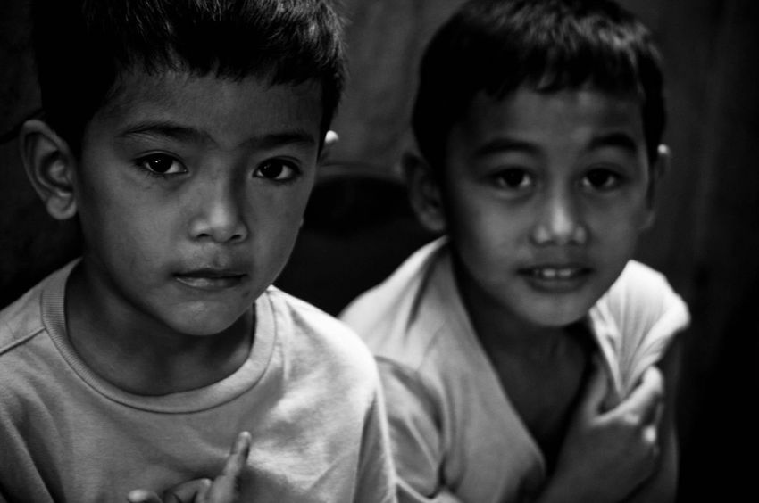 EyeEm Selects Childhood Boys Two People Elementary Age Sibling Innocence Togetherness Friendship Real People Portrait Child Close-up Bonding
