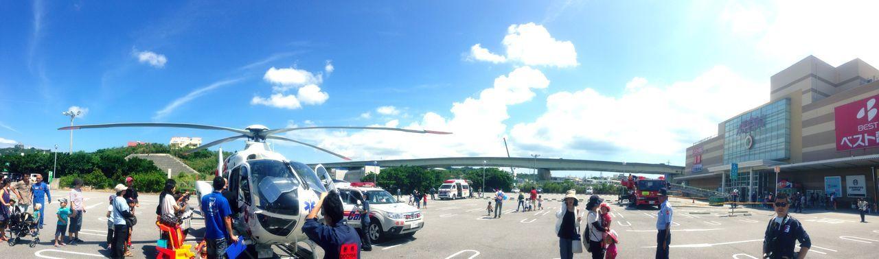救急車両andヘリコプター