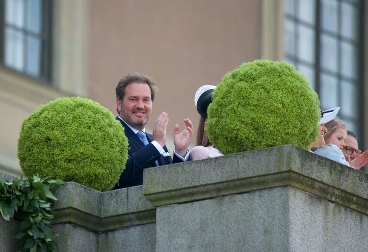 April 30, 2016 Balcony View Celebration Day King Carl XVI Gustaf 70 Years Married To H.K.H. Princess Madeleine Mr. Christopher O´Neill Royal Family Sweden Royal Palace Smiling Stockholm, Sweden