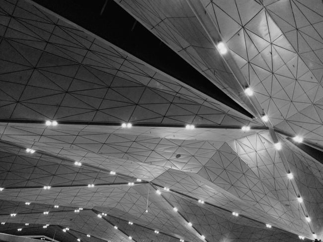 Pulkovo Airport Saint-Petersburg Architecture Urban Geometry Interior Design Black And White Monochrome Light And Shadow