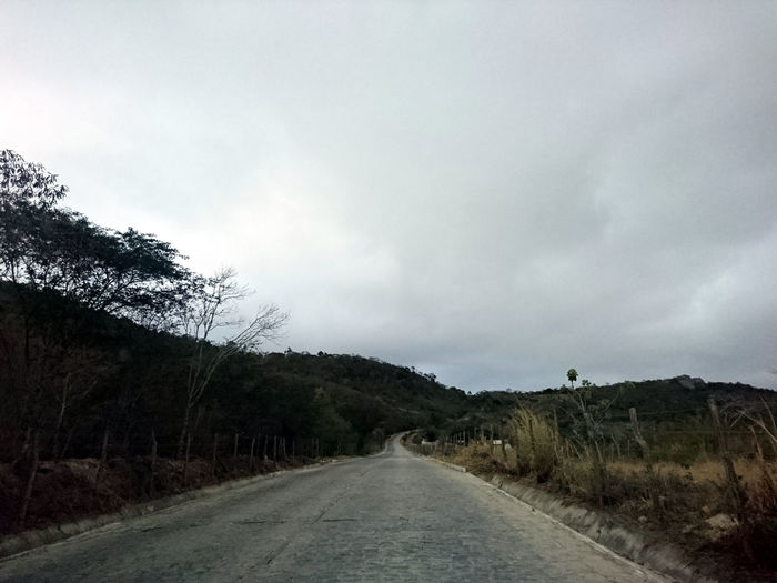 Beauty In Nature Cloud - Sky Day Nature No People Outdoors Road Sky The Way Forward Tree