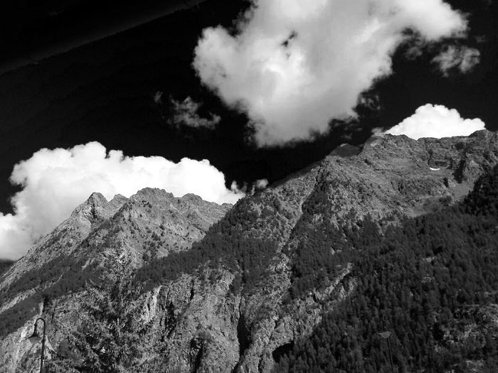 Blackandwhite Mountains Mountain Mountain View Clouds Sky And Clouds