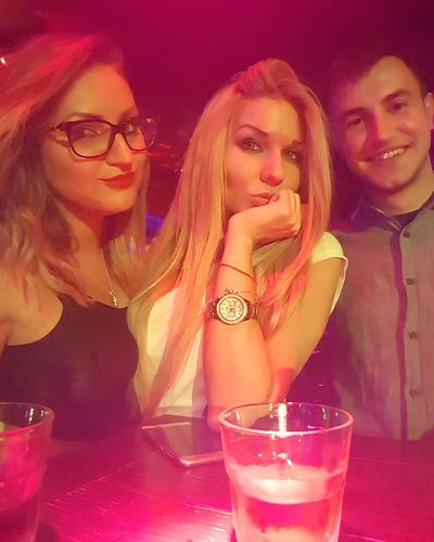 Perfection❤❤❤ Awesome Alcohol Drinking Eyeglasses  Togetherness Friends ❤ We Look Cute<3 Drinking All Night Hello World ✌ Kiss ✌ Night Fun People