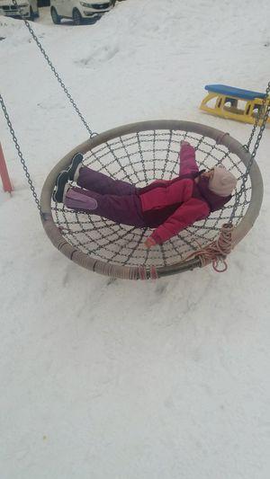 fun EyeEm Selects One Baby Beautiful Children Mountains Childhood Fun Playground Winter Little Girl Child Children Photography Indoors  Day