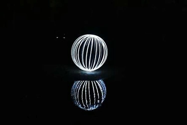 My first successful orb Light Painting Dark And Light Orb Spinningaround White Reflection