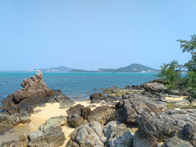 Mae Nam, Ko Samui, Thailand Sea Water Sky Beach Land Rock Nature Solid Scenics - Nature Beauty In Nature Day Clear Sky Blue Tranquility Travel Island Archipelago Vacations Trip Adventure Sea View Landscape Travel Destinations Travel Tourism