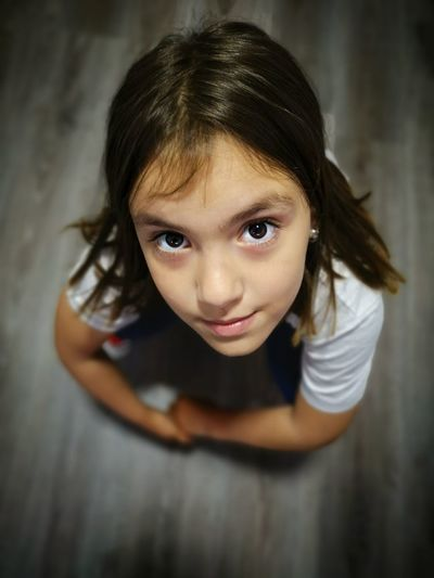 Child Portrait Childhood Girls Looking At Camera Human Face Human Eye Cute Brown Hair