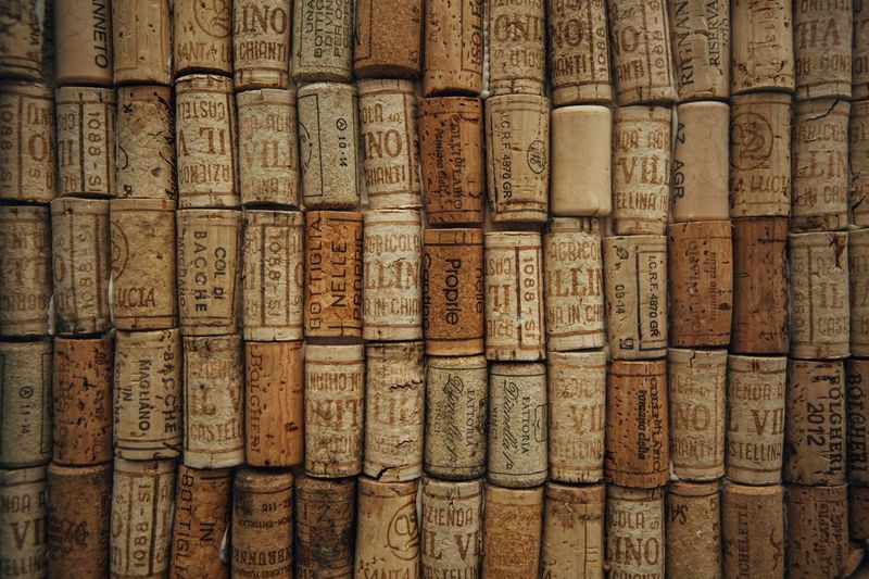 Cork. Cork Wine Backgrounds In A Row Full Frame Stack Arrangement Carving - Craft Product Pattern Close-up No People Bamboo - Material Bamboo - Plant Large Group Of Objects Day Ancient Outdoors
