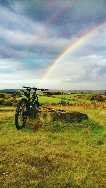 Rainbow Nature Outdoors Scenics No People Beauty In Nature Landscape Cloud - Sky Sky Day EyeEm Gallery EyeEmNewHere EyeEm Nature Lover Sport Cycling Bicycle Cubebikes