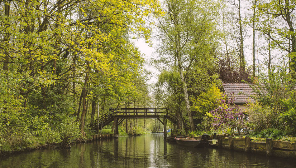Spreewald atmosphere Architecture Beauty In Nature Boat Bridge Building Exterior Built Structure Day Growth Holiday Nature No People Outdoors River Scenics Sky Spree Spree River Spreewald Tranquil Scene Tranquility Tree Tree UNESCO World Heritage Site Water Waterfront