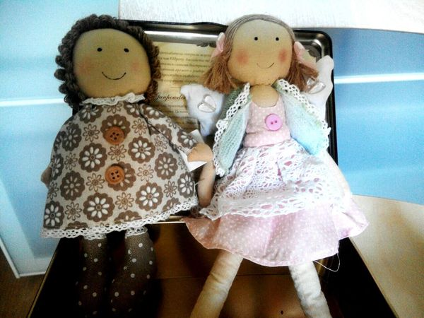 Dolls DollPhotography Blonde And Brunette Friends For Kids Button