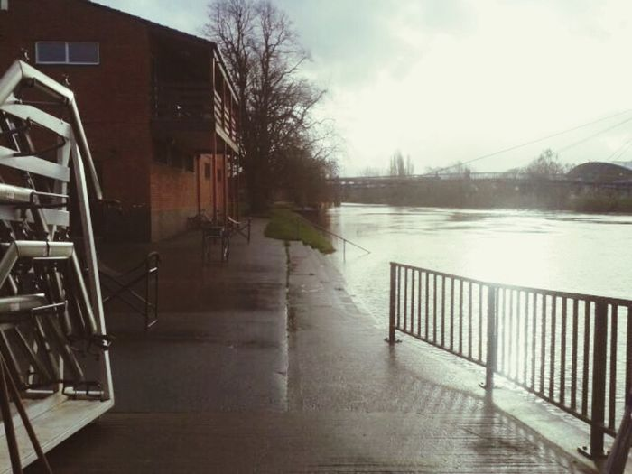 View over Sabrina Bridge from Worcester Rowing Club