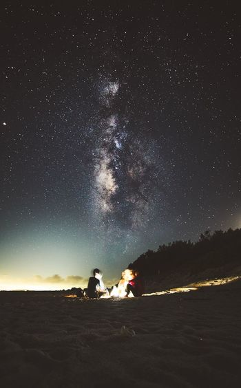 Hanging out under the Milky Way Bonfire Friends Chattering 天の川 Light Stars Astrophotography Milky Way Nightsky Night Beach Seaside EyeEm Best Shots EyeEm Nature Lover EyeEm Nature Lover EyeEm Best Shots Okinawa 水納島 Astronomy Star - Space Galaxy Milky Way Space Togetherness Adventure Men Camping Sky Constellation Starry