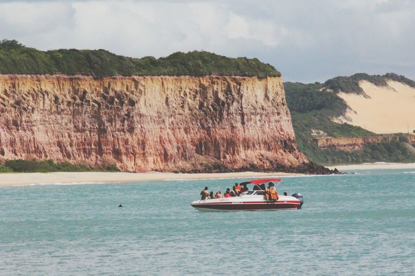 Dolphin watching at Dolphins Bay, Praia Da Pipa Rio Grande Do Norte Brazil Dolphin Watching