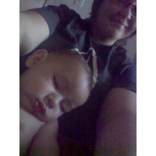 I can always put him to sleep once i sit him in my lap ♥♥ Nephew  Sleeping TooCutee Lovehim morning