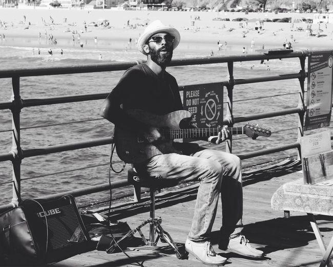 Performer on the Santa Monica Pier Blackandwhite Vscocam California Streetphotography Streetphoto_bw Portrait