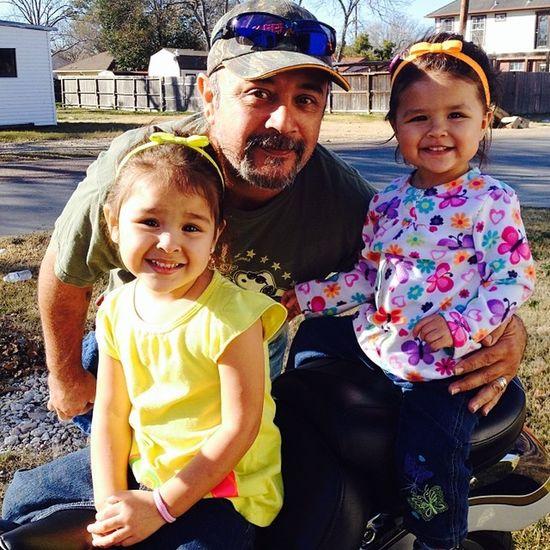 Grandpa and his girls ? MyDad MyDaughters Cute Theylovehim .