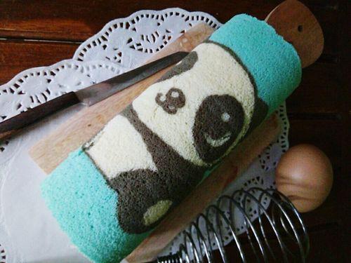 Panda character rollcake Rollcake  Rollcakes Endessoftcake Cepu Blora